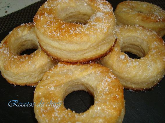 Donuts de hojaldre