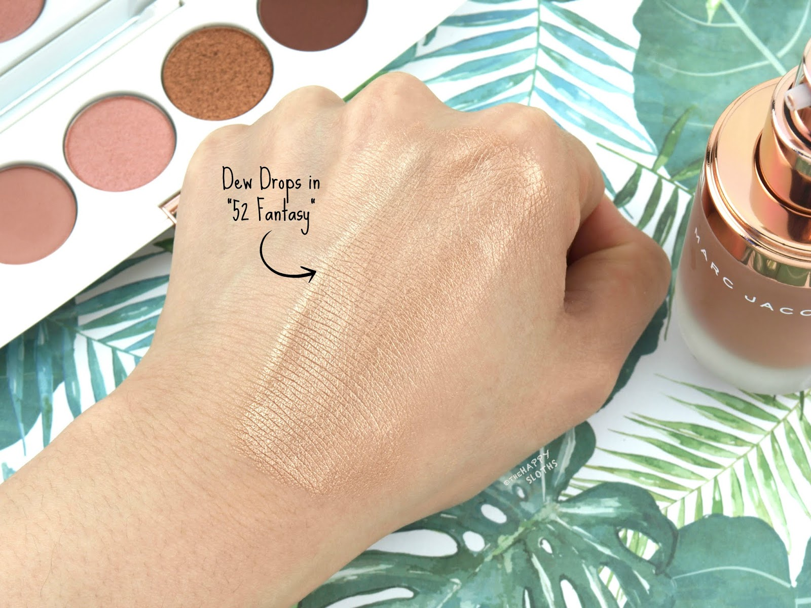 "Marc Jacobs Beauty | Summer 2018 Coconut Fantasy Dew Drops Coconut Gel Highlighter in ""52 Fantasy"": Review and Swatches"
