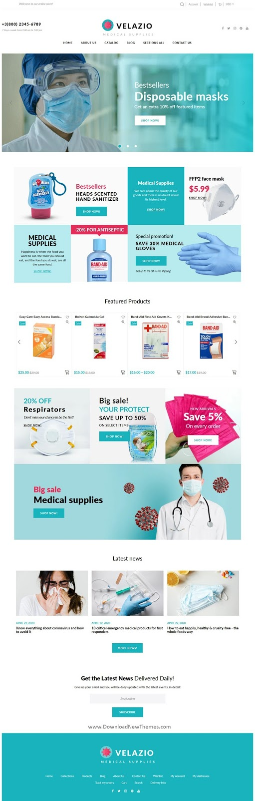 Medical Supplies Responsive Website Theme
