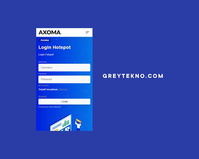 Template Login Hotspot Mikrotik Axoma
