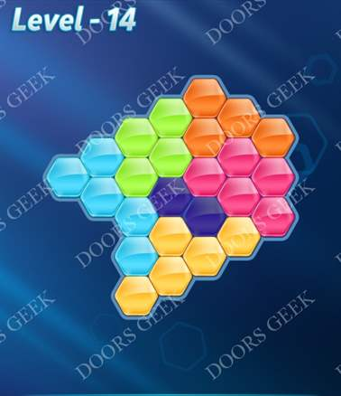 Block! Hexa Puzzle [6 Mania] Level 14 Solution, Cheats, Walkthrough for android, iphone, ipad, ipod