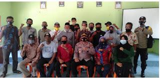 Kunjungan Silaturahmi Kapolsek Singkep Barat Iptu Bakri di  Desa marok Tua