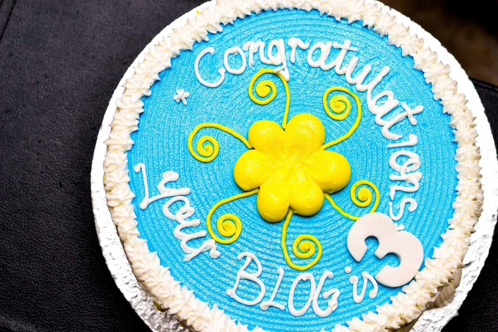 Blog Birthday Cake