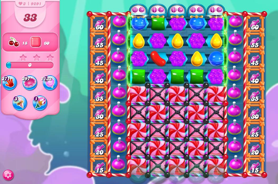 Candy Crush Saga level 9291