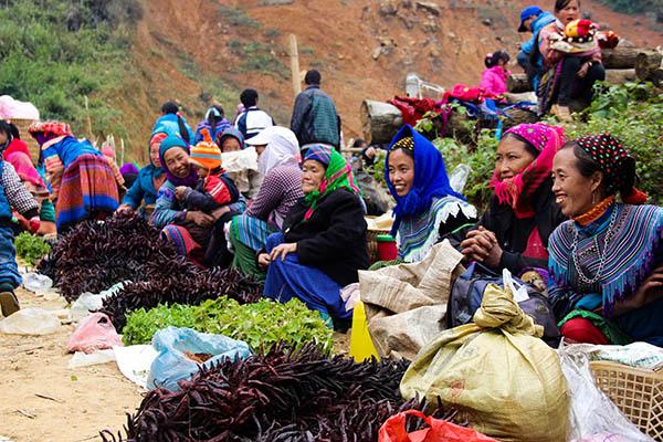 Les marchés ethniques du nord du Vietnam
