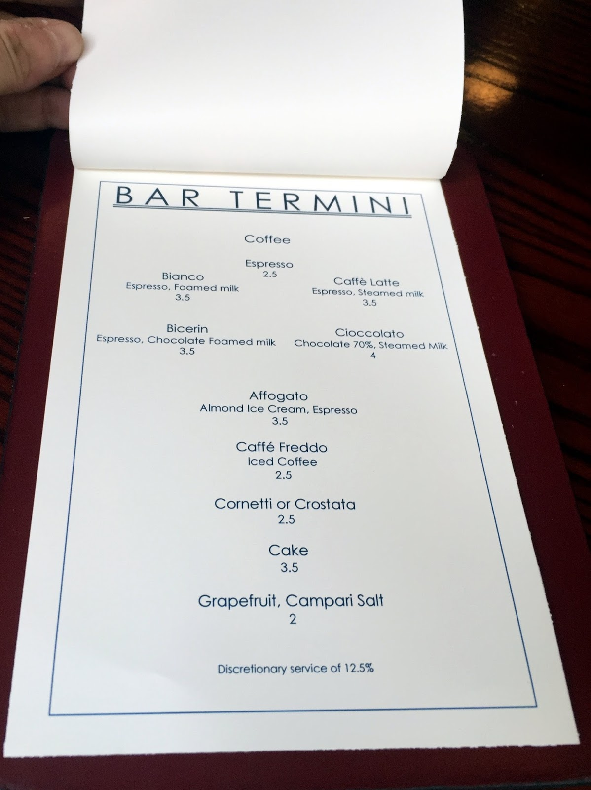 Double Skinny Macchiato: The Caffeine Chronicles: Bar Termini