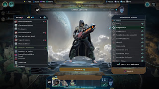 Age of Wonders Planetfall menu héros