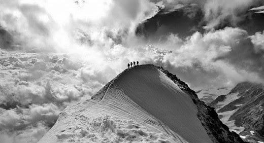 di atas gunung,gunung es,salju,putih,alam