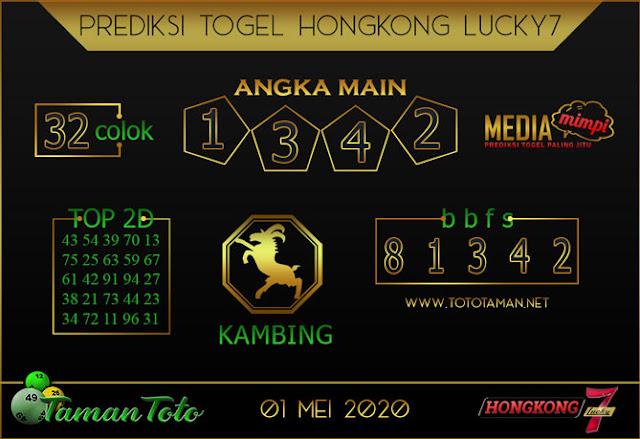Prediksi Togel HONGKONG LUCKY 7 TAMAN TOTO 01 MEI 2020