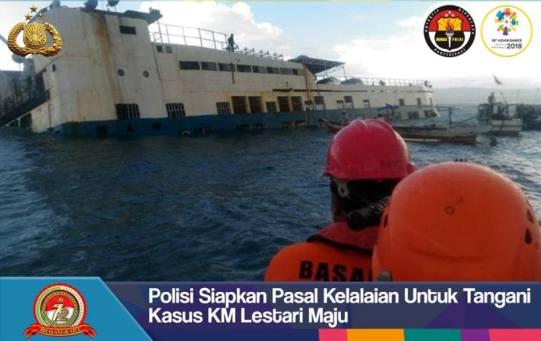 Polisi Siapkan Pasal Kelalaian, Untuk Tangani Kasus KM Lestari Maju