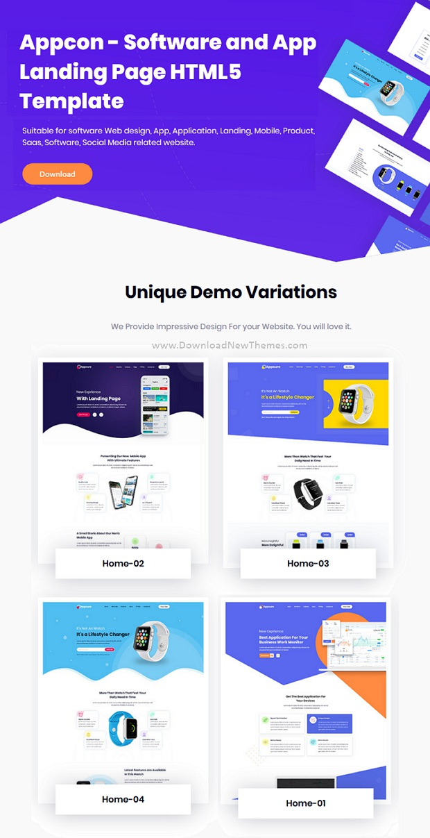 Software & App Landing HTML5 Template