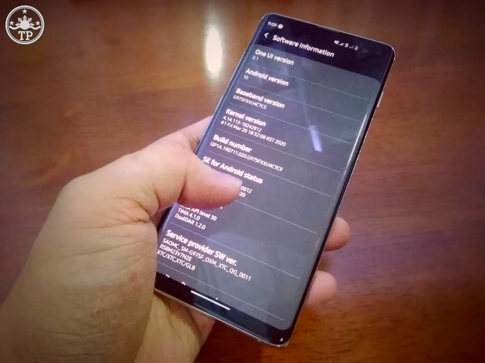 Samsung Galaxy S10 Plus One UI 2.0 Firmware Upgrade