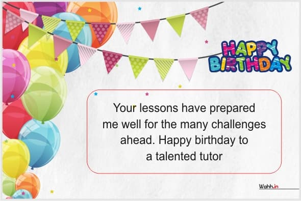 Birthday Wishes For Teacher With Posters
