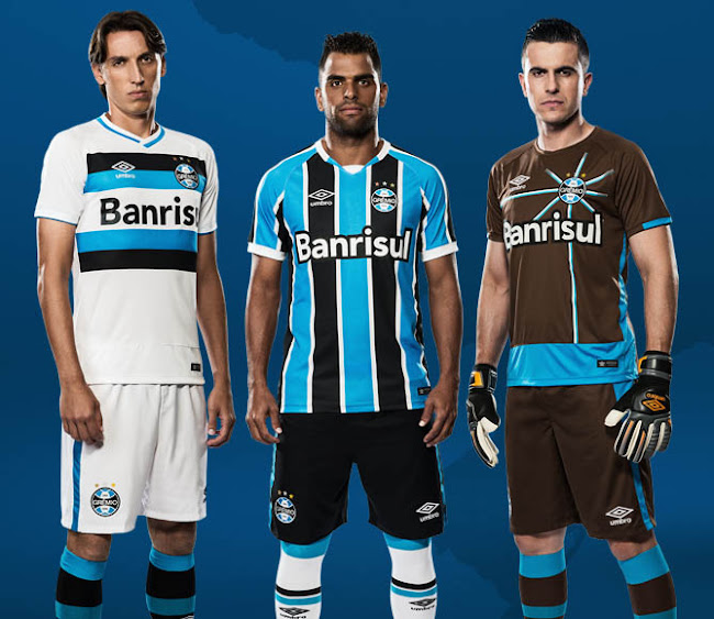 6ac588ab589b8 Grêmio 2016 Home and Away Kits Released - Footy Headlines