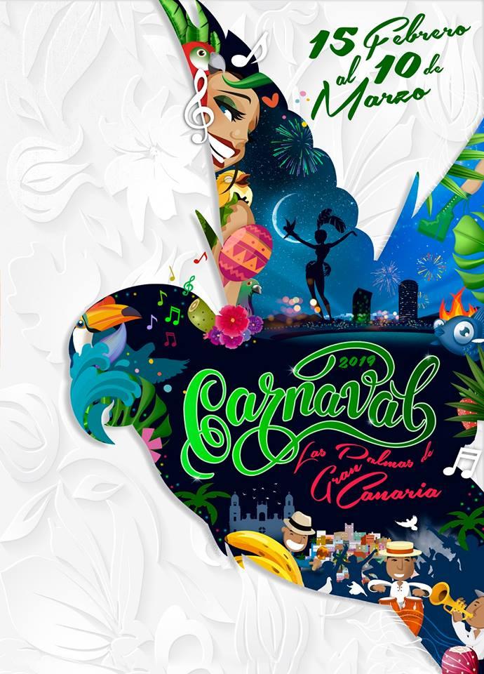 Cartel del Carnaval de Las Palmas de Gran Canaria 2019.