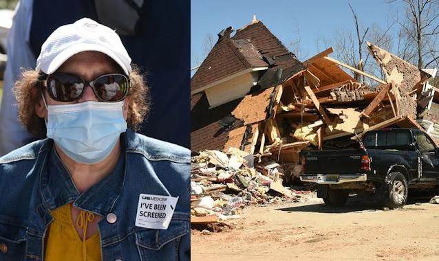 """Mulher diz que tornado parou após oração: """"Deus está no controle de tudo"""""""