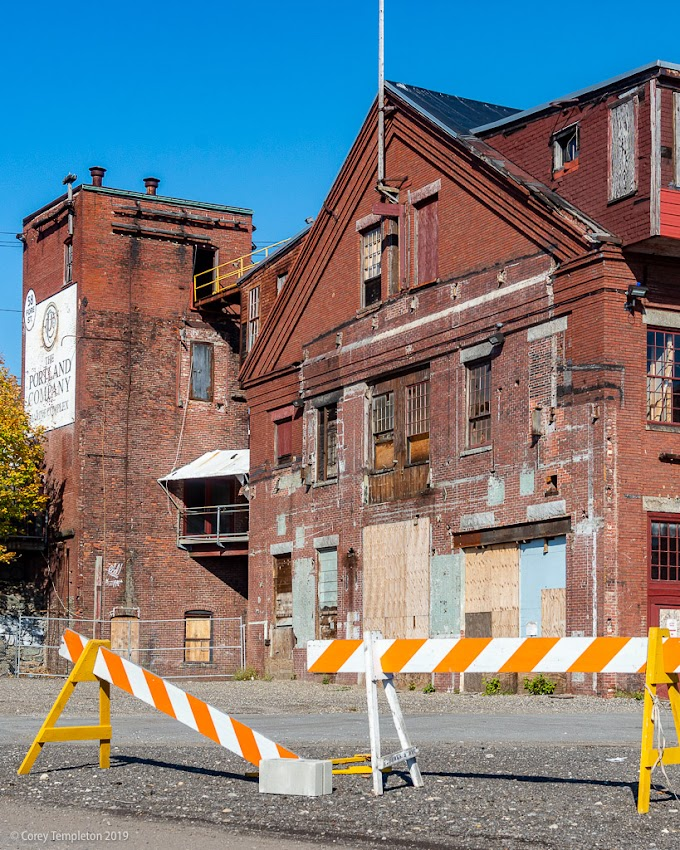Portland, Maine USA November 2019 photo by Corey Templeton. Renovations under way at the old Portland Company Complex.