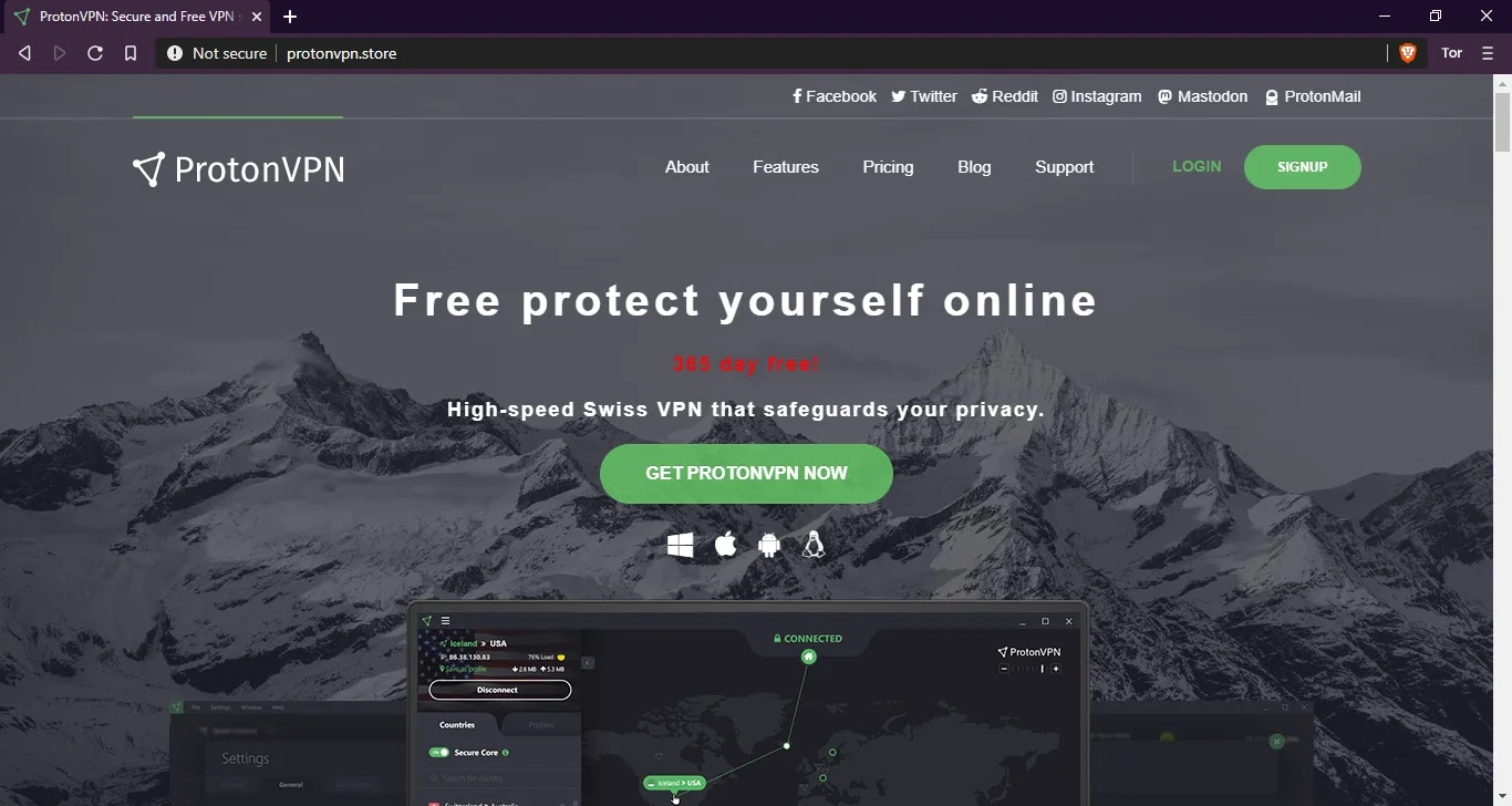 fake ProtonVPN installers