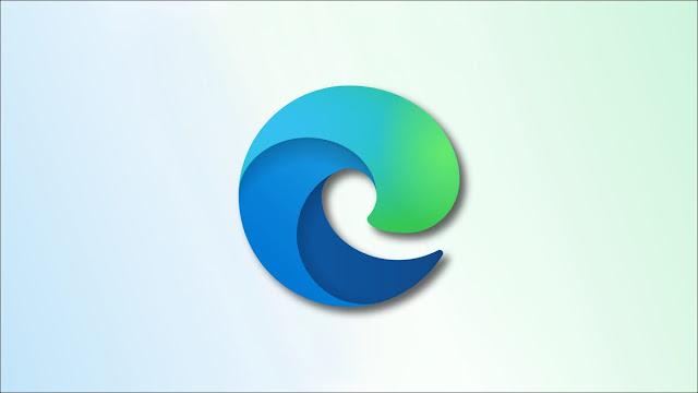 شعار الحافة على خلفية زرقاء وخضراء باهتة