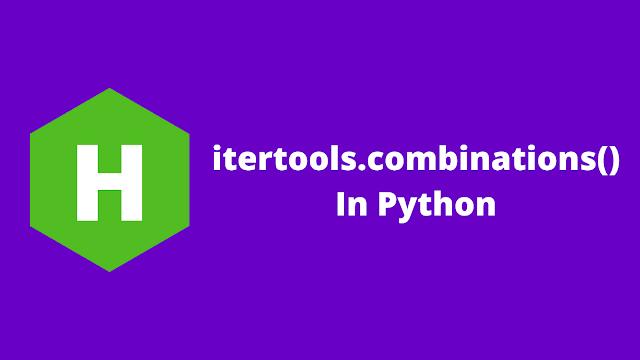 HackerRank itertools.combinations() in python problem solution
