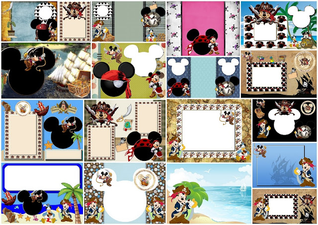 Mickey Mouse Pirate: Free Printable Invitations.