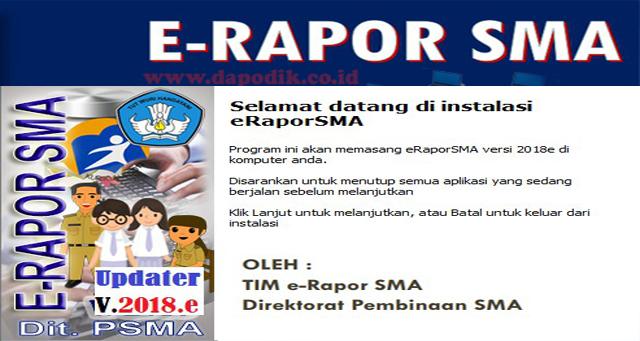 Rilis Aplikasi E-Rapor SMA Update Terbaru (Download Aplikasi E-Rapor SMA)