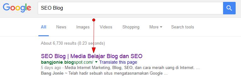 Cara buat judul halaman beranda blog | SEO Blog