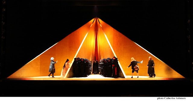 ENO - Tristan and Isolde, Act 1 - Karen Cargill, Heidi Melton, Matthew Rose, Stephen Rooke, Craig Colclough Stuart Skelton - photo Catherine Ashmore