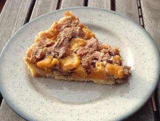 Tarta de mango y pecanas, pie, receta