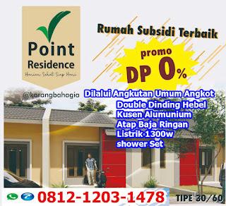 Rumah Subsidi Tanpa DP Cikarang Bekasi  Terbaru 2019-2020 Point Residence