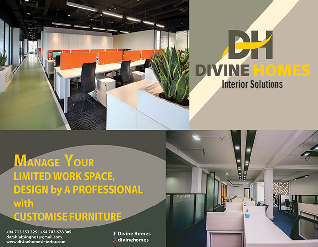 Manage your Limited Work Space design by a Professional with Customize Furniture.