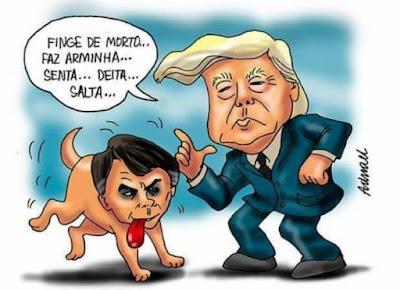 EUA apoia entrada de Argentina e Romênia na OCDE e ignora Brasil. De Trump pra Bolsonaro: You love me, mas me num love you!     Ninguém respeita puxa-saco, nem quem tem o saco puxado... Saco!