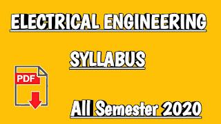 Electrical Engineering syllabus 2020 pdf