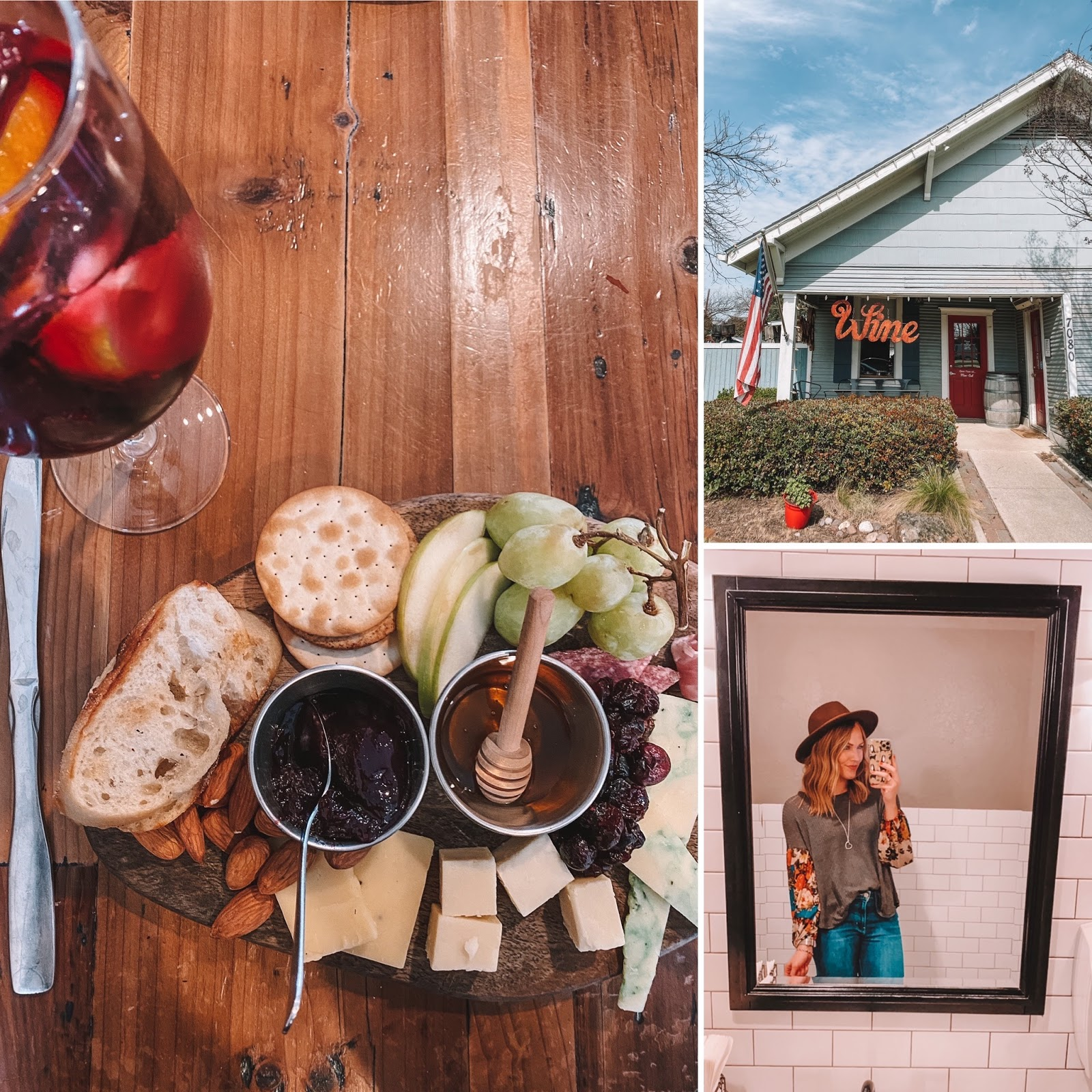 Eight11, located on Main Street in Frisco, Texas, has the yummiest cheese boards and Sangria