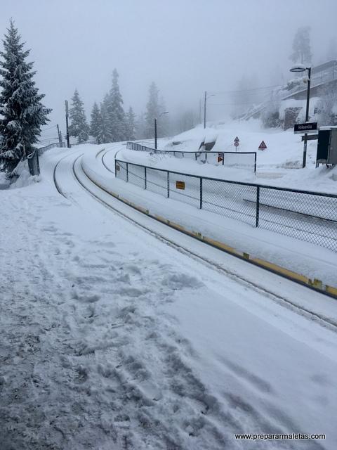 metro de Oslo con nieve