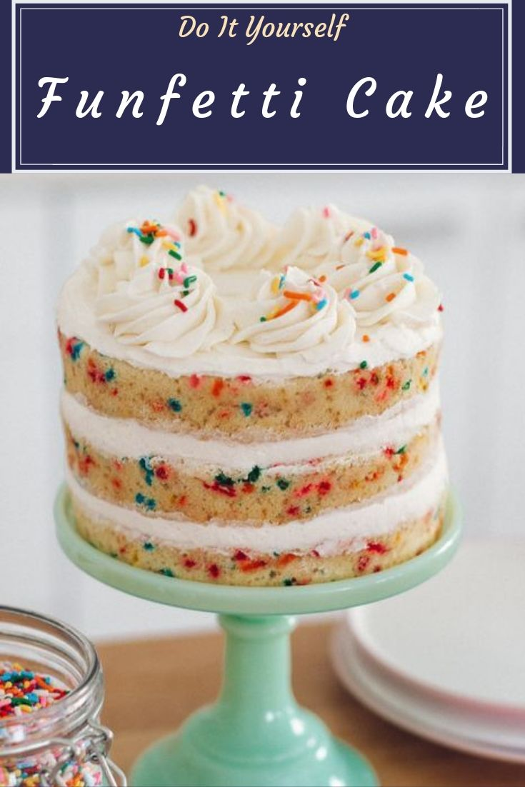 Learn how to make this amazing homemade funfetti cake from scratch. It's moist, fluffy and dotted with sprinkles, perfect for birthdays!