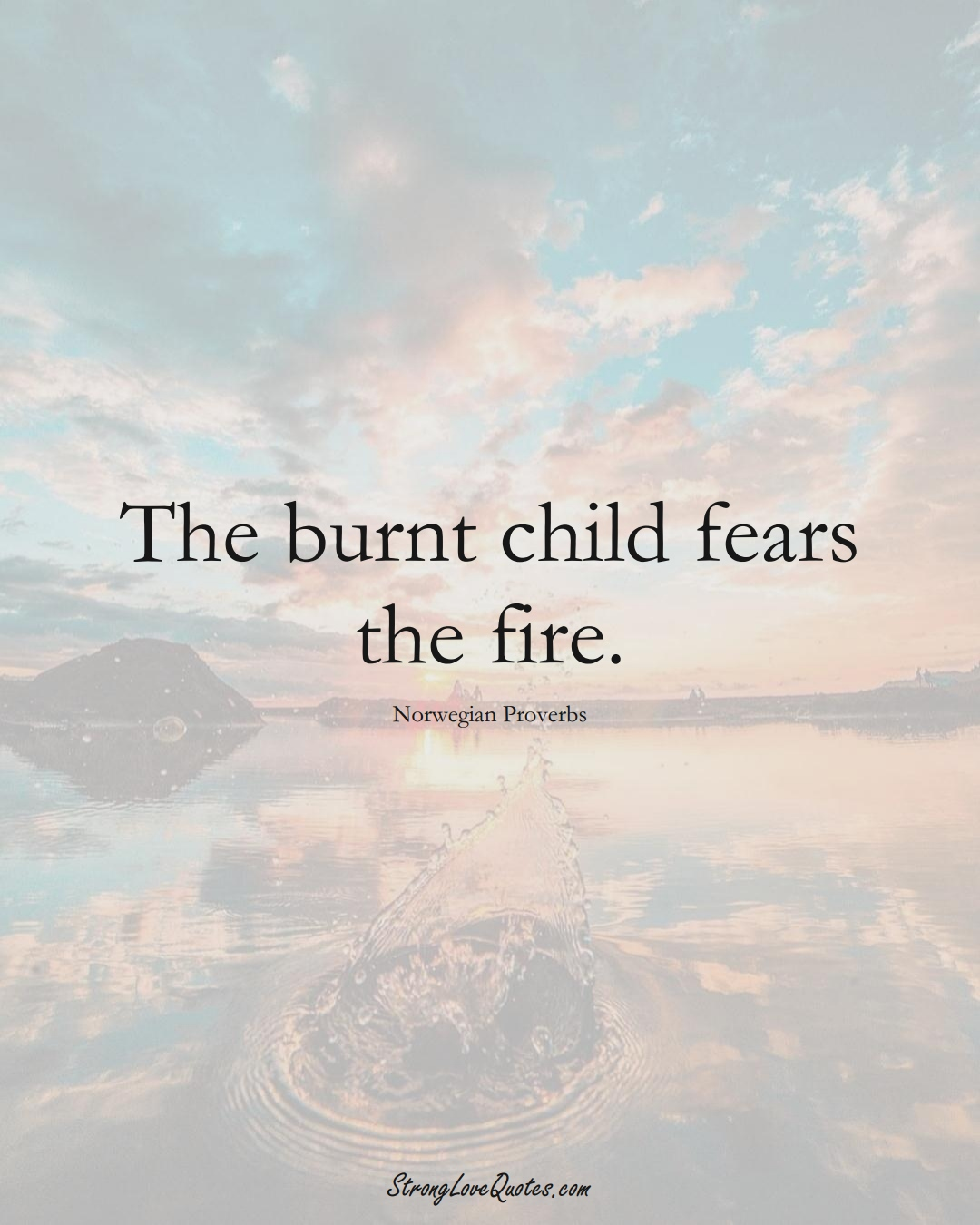 The burnt child fears the fire. (Norwegian Sayings);  #EuropeanSayings