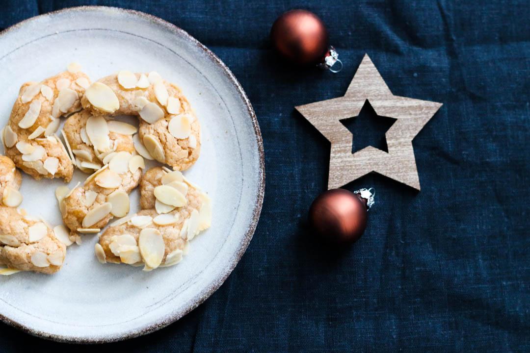 Mandelhörnchen, Kekse, Advent, Weihnachten, Weihnachtsbäckerei, Fleurcoquet