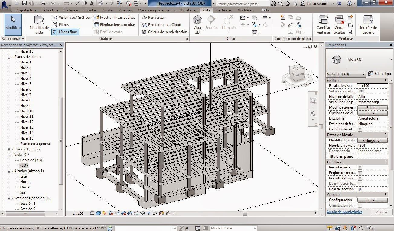 Rc i e s gran v a alicante practica 6 revit for Planos de estructuras