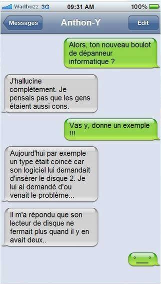 sms amusant