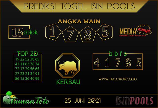 Prediksi Togel ISIN TAMAN TOTO 25 JUNI 2021