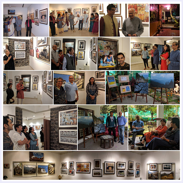 Photo Gallery featuring guests and visitors to Milind Sathe's photography show at Indiaart Gallery, Pune (www.indiaart.com)
