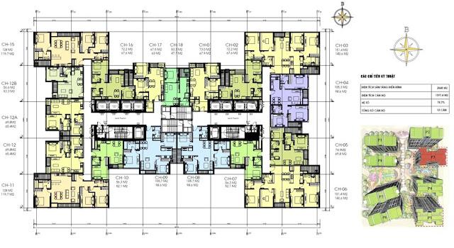 Mặt bằng thiết kế chung cư C22 Bộ Công An