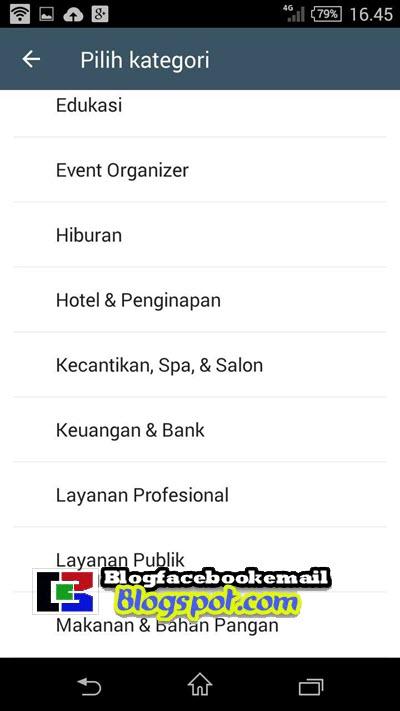 memilih kategori WA bisnis