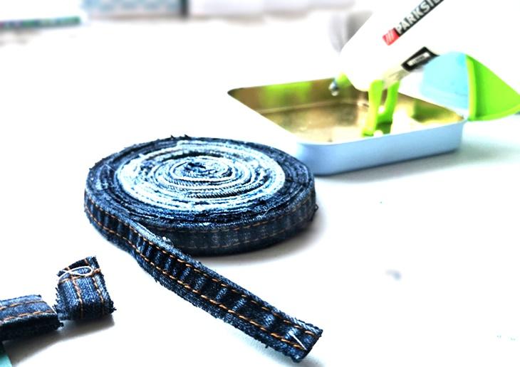 Jeansuntersetzer - Topfuntersetzer aus Jeans selbermachen - vonKarin Jeans Upcycling