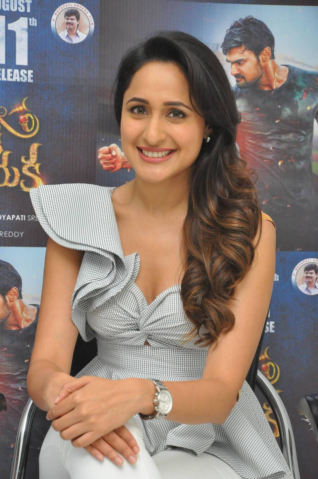 Pragya Jaiswal At Jaya Janaki Nayaka Movie Success Meet Stills