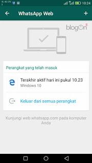 cara keluar dari WhatsApp laptop
