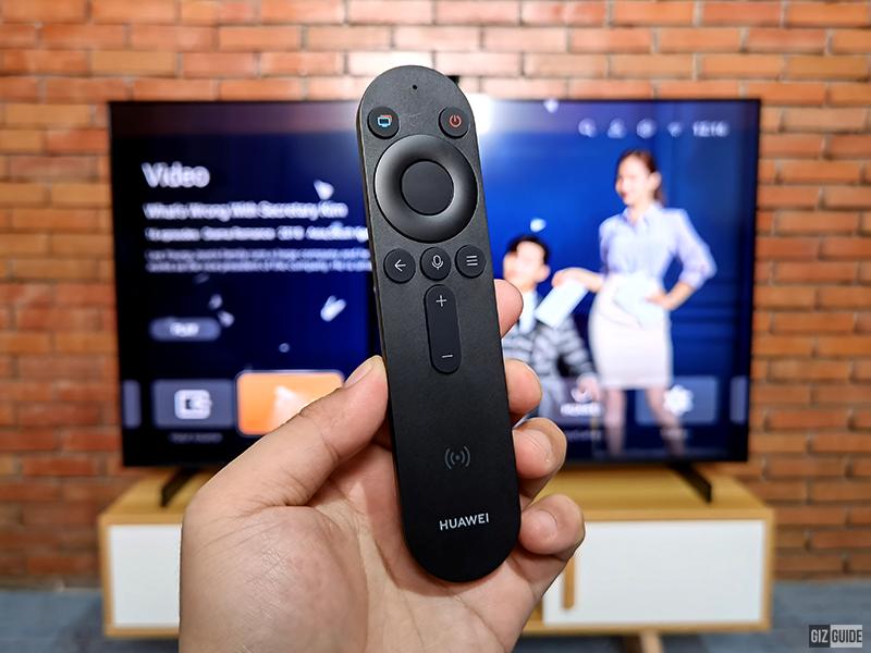 The remote includes Celia AI voice assistant