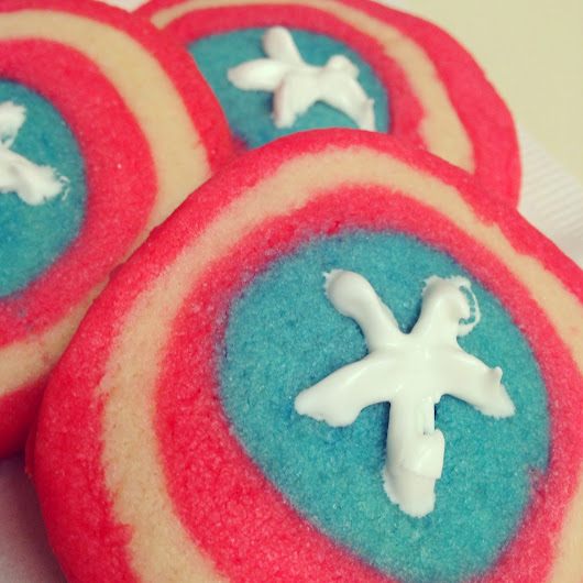 comic cookies: captain america