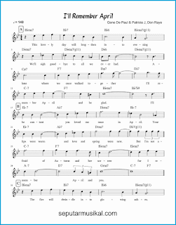 chord i'll remember april 1 lagu jazz standar